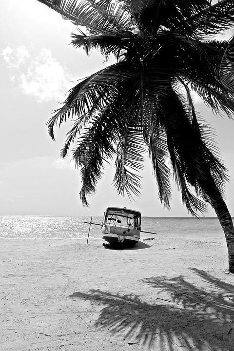 Gambar Pantai Hitam Putih : gambar, pantai, hitam, putih, Pantai, Pasir, Gratis, Pixabay