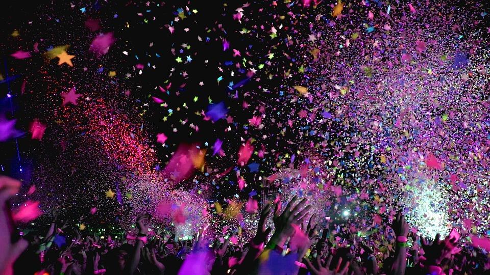 Concert, Confetti, Party, Event, Club, Fun