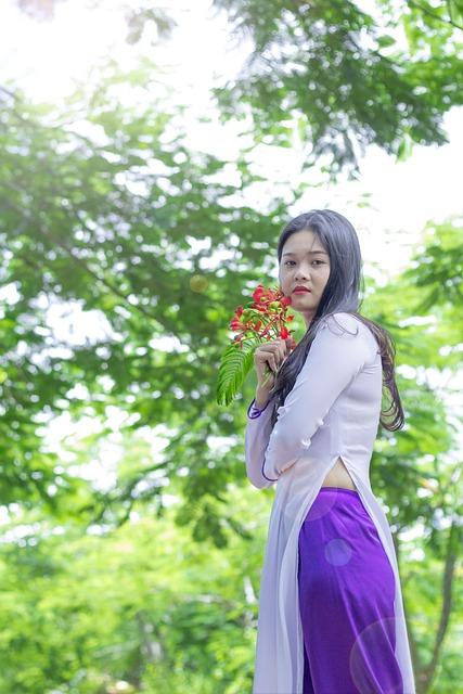 Rain Wallpaper Hd Vietnam Dress Ao Dai Girl 183 Free Photo On Pixabay