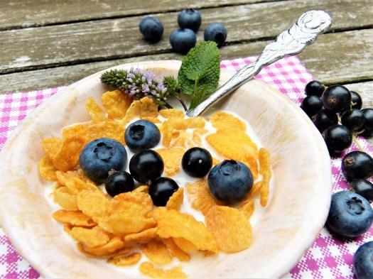 Corn Flakes, Latte, Frutti Di Bosco, Mirtilli