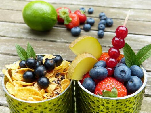 Frutta, Occhiali, Luce Verde, Vitamine, Sano, Muesli