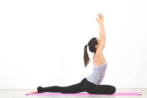 People, Woman, Yoga, Mat, Meditation