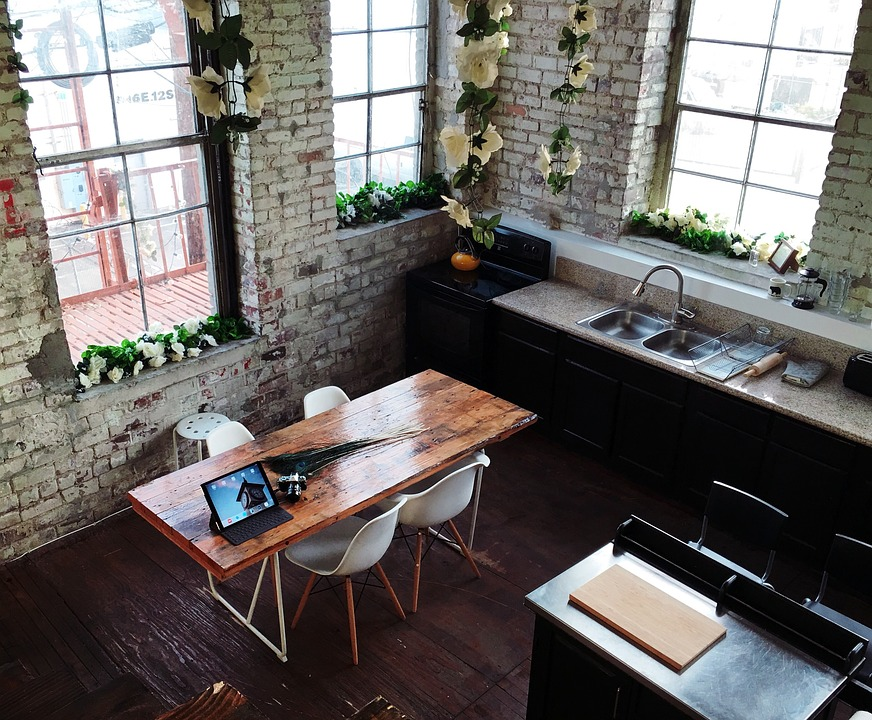 chairs for kitchen outdoor lowes 内房子墙 pixabay上的免费照片 内 房子 墙 窗口 厨房 表 椅子 餐饮 地区 水槽 烤箱 室内 设计