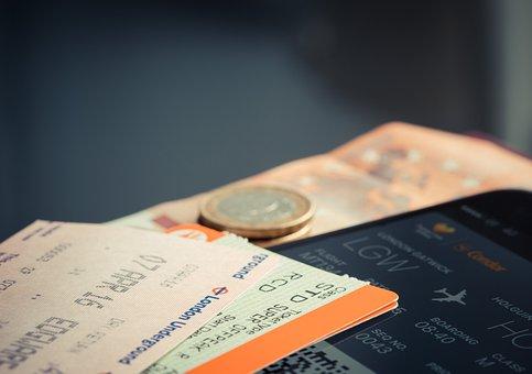 仍, 项目, 事情, 通行证, 登机, 飞机, 门票, 硬币, 货币, 条例草案