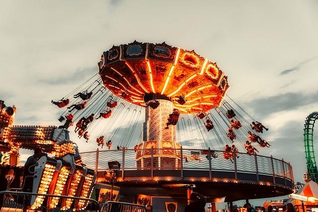 Fall Aesthetic Wallpaper Rides Amusement Park Sky 183 Free Photo On Pixabay
