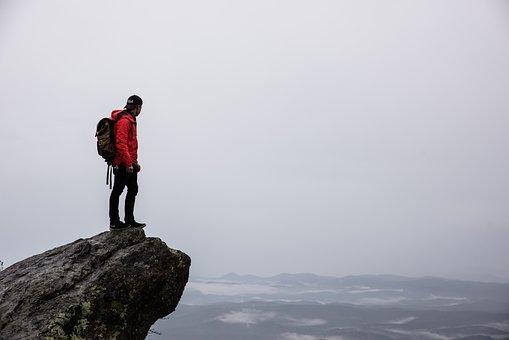 Guy, Man, People, Hiking, Trekking