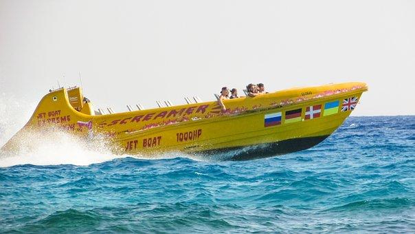 Speed Boat, Water Sports, Speed, Water