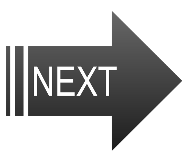 Black Next Button Navigation