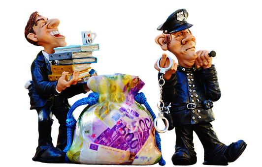Taxes, Tax Evasion, Police, Handcuffs
