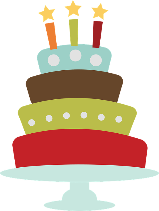 birthday cake clip free vector