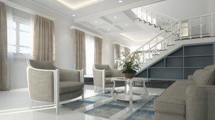 インテリア, リビング ルーム, 家具, 新古典派, デザイン, 豪華な, 3 D, ホワイト, ルーム