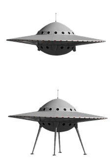 Ufo, Spaceship, Isolated