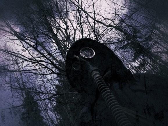 防毒マスク, マスク, 人工呼吸器, 核, 森林, 暗い, 放射線, 黙示録, 投稿