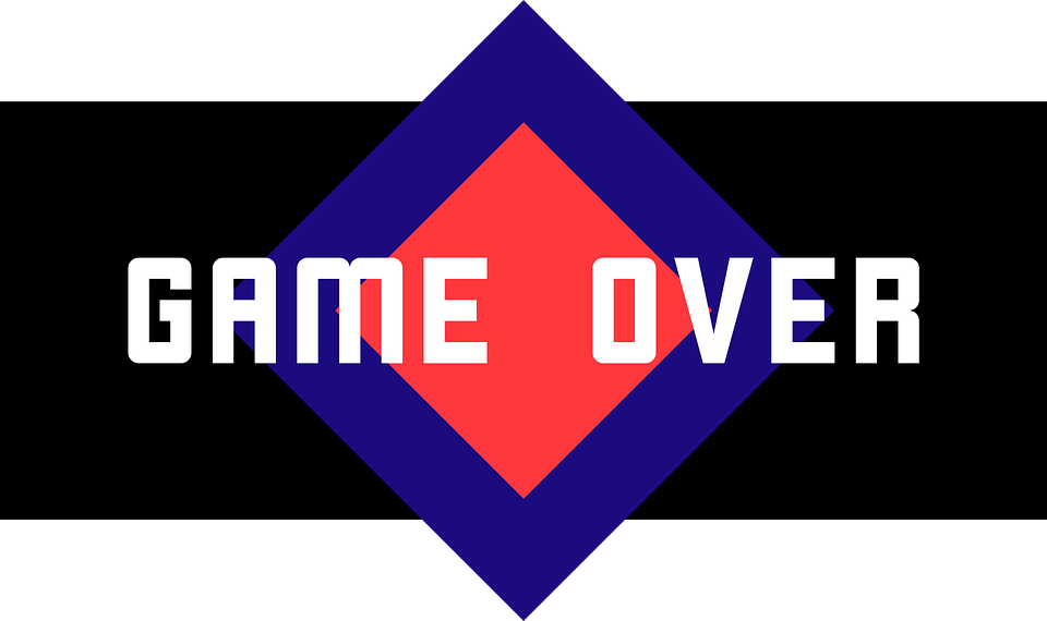 game over free vector