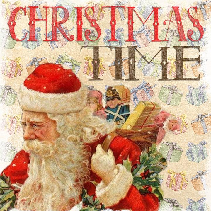 Free Illustration Christmas Vintage Santa Free Image