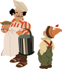Bucket, Hat, Apron, Chef, French, Pie
