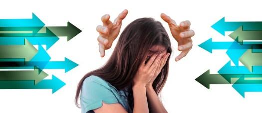 Donna, Faccia, Bullismo, Stress, Vergogna, Frecce