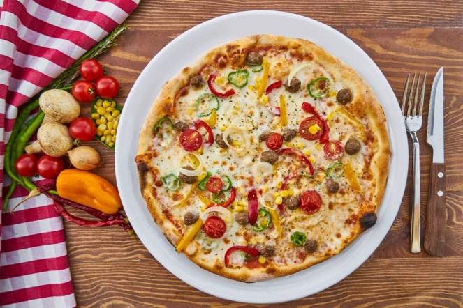 Pizza, Massa, Cozido, Queijo, Tomate, Cogumelo, Pimenta