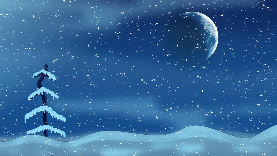 Pretty Falling Angel Wallpaper 1920x1080 Christmas Night Moon Tree 183 Free Image On Pixabay