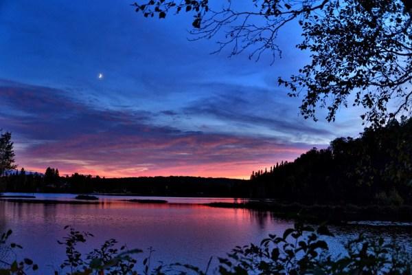 sunset landscape colors free