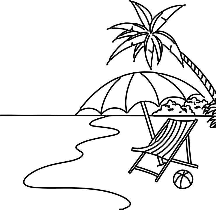 20 Vacation Clip Art Coloring Pages Ideas And Designs