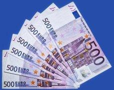 Euro, Geldscheine, 500 Euro, Währung Blitzkredit -