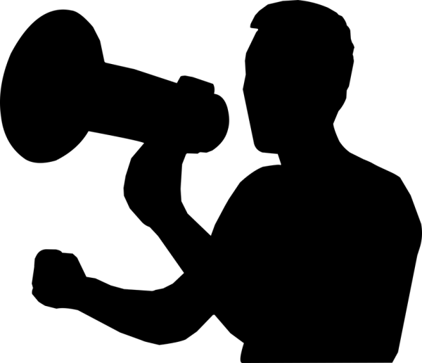 Image result for man with bullhorn silhouette