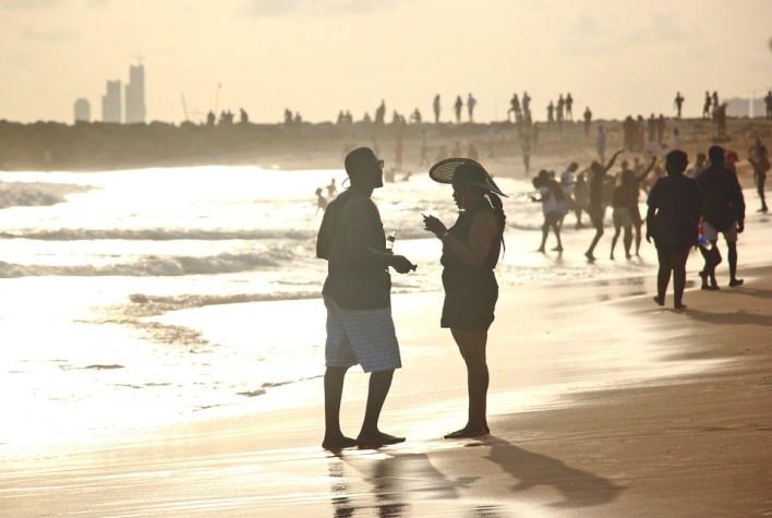 Praia, Amor, Pôr Do Sol, Mar, Homem, Mulher, Lagos