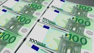 Euro, Bill, Währung, Hundert, Bargeld + Kredit-Info.