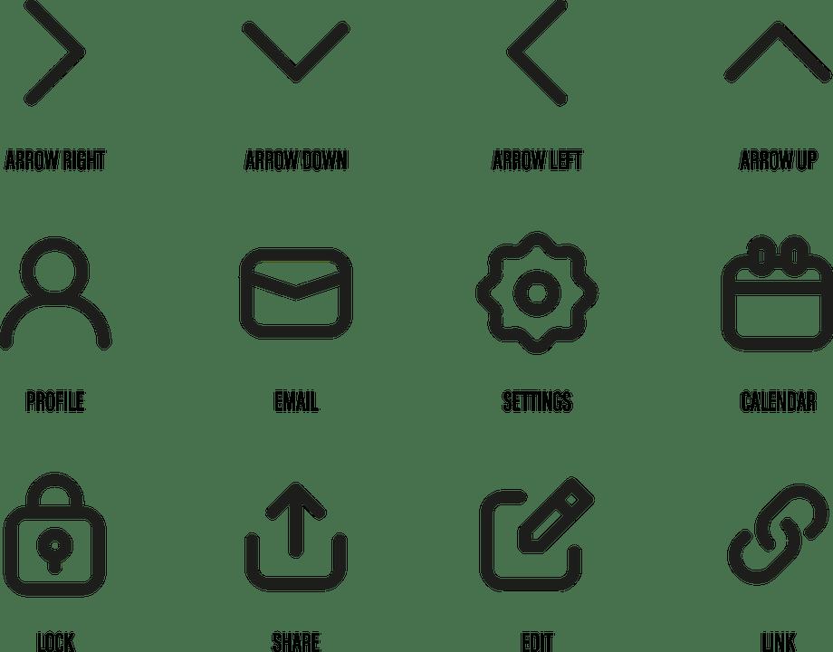 Icons Web Symbols · Free vector graphic on Pixabay
