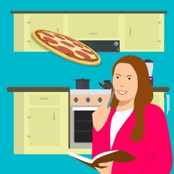 Cartoon Woman At Kitchen Free image on Pixabay