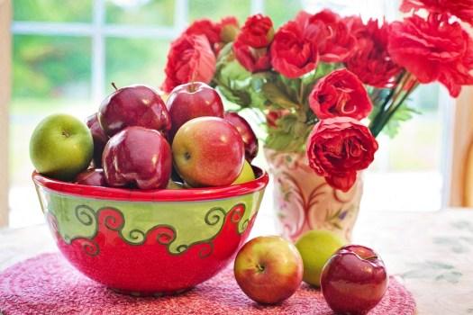 Mele, Red, Ciotola, Still Life, Frutta, Naturale