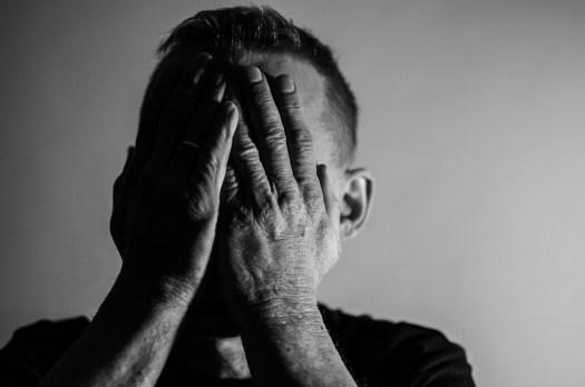 Depressione, Tristezza, Uomo, Mi Dispiace Per