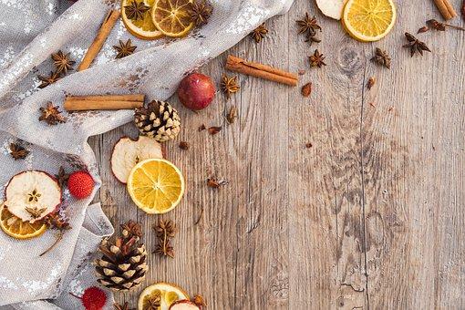 クリスマス, 出現, シナモン, シナモンの棒, 果物, ドライ フルーツ