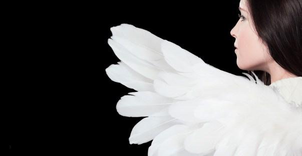 天使, 女性, 翼, 天使図, 天使の顔, 若い女性, 構成します, かなり, 美しい, めい想的な, 気分