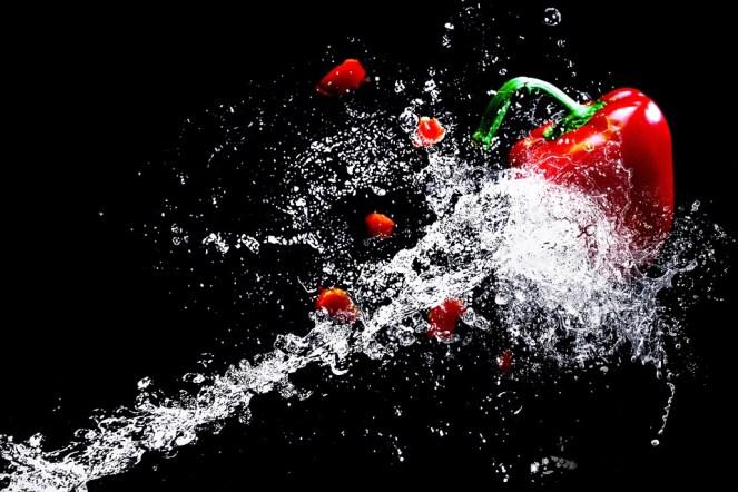Água, Páprica, Legumes, Salpicos de Água, Vegetariano