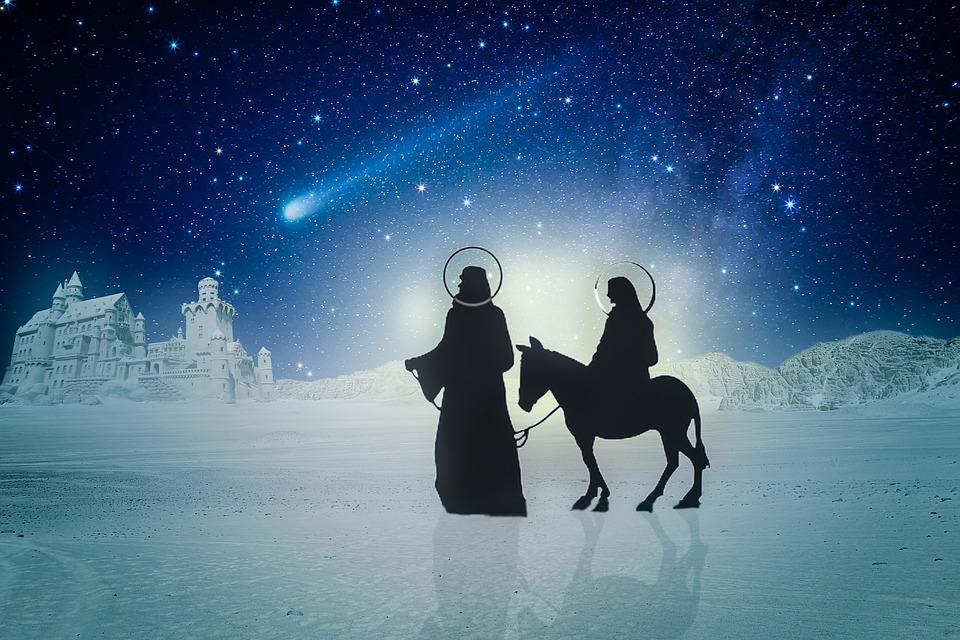 Josef, Joseph, Maria, Donkey, The Holy Family