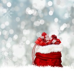 Christmas, Gifts, Gift Bag, Bag, Red, Surprise, Packed