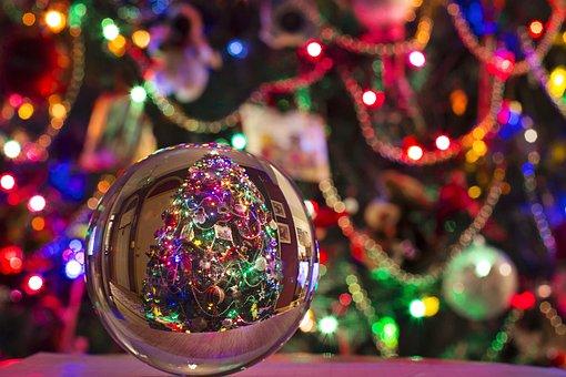Crystal Ball Christmas Ornaments