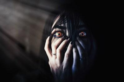目, 悪, 顔の見えない, 髪, 怖い, 手, クローズアップ, 無料画像, 忠誠無料, 黒い目, 黒い髪