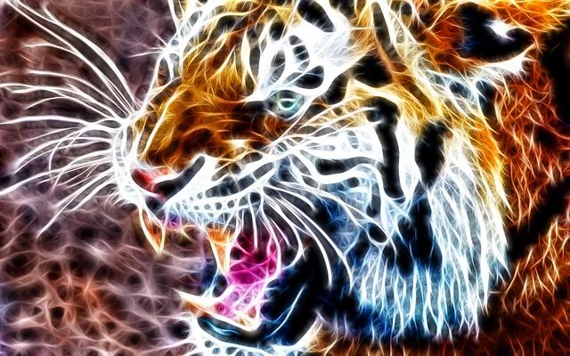 Abstract Animal Wallpaper Tiger Animal 3d 183 Free Photo On Pixabay