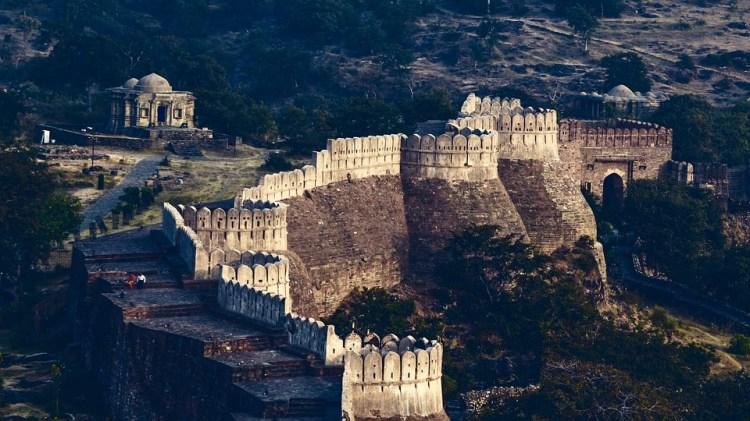 Kumbhalgarh, Fort, L'Architecture, Inde, Rajasthan