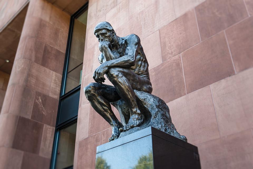アート, 思想家, 彫刻, ビーレ フェルト, 思考, 人間, じっくり考える, 考慮します, アートワーク
