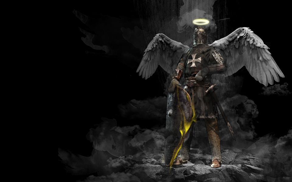knight angel middle ages