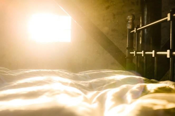 Cama, Poeira, Sol, Manhã, Acordar, Início, Sono