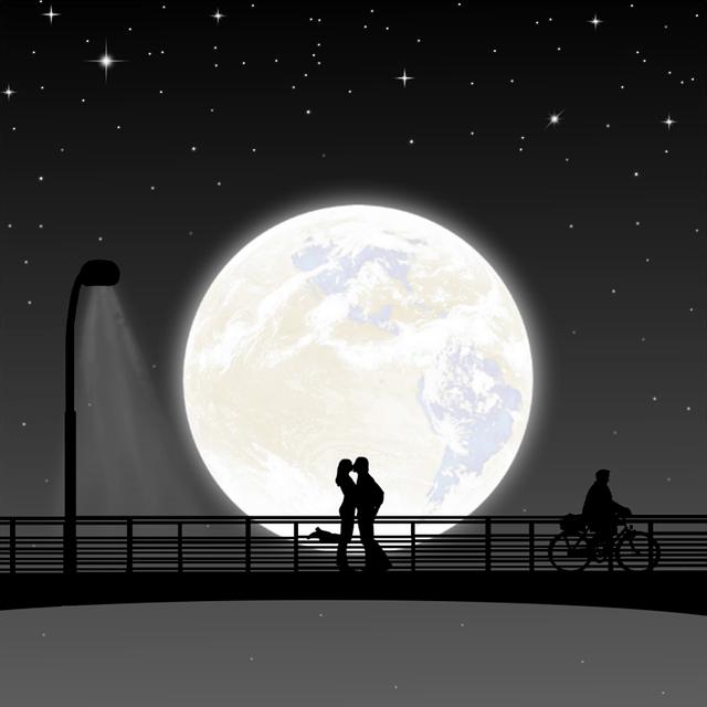 Moon Night Couple Full  Free image on Pixabay