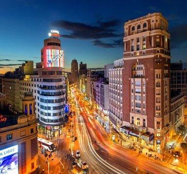 Madrid, Espagne, Route, Plaza Del Callao