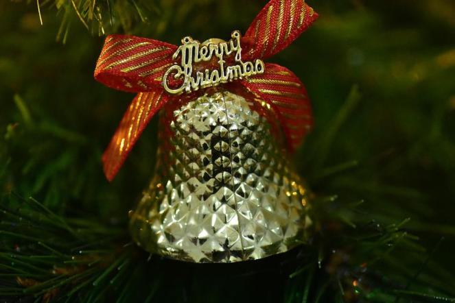 Sino De Natal, Feliz Natal, Fita, Xmas, Brilho