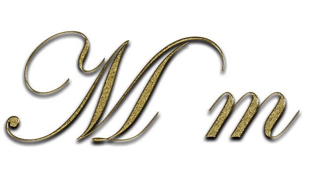 Letter M Gold Font Write Type Fonts