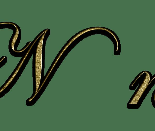 Letter N Gold Font Letter N Write Type Fonts